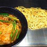 どんきゃべつ - お好み屋さんの考える「つけ麺」と言う焼きつけ麺