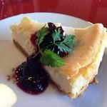 一房の葡萄 - 料理写真:ベークドチーズケーキ(拡大)