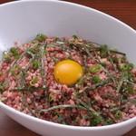 Ramu Tokyo - <とろ桜フレークご飯> アツアツのご飯に フレーク状に冷凍した桜肉をのせて、わさび醤油ときざみ海苔をかけたものです。 ご飯の上でお肉がとろけたタイミングで お召し上がりください。