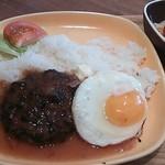8cafe hamburger - ロコモコランチ800円