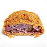 パン・オ・セーグル - 紫いもコロッケの断面 '13 4月中旬