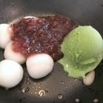 喫茶どんぐり - クリ-ム白玉セット◇300円