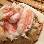 積丹浜料理 第八 太洋丸 - 茹で毛蟹 全部ほぐします。