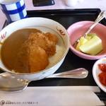 新南愛知カントリークラブ - 2013.05 ミニ丼セットの新メニュー?ヒレカツ丼、、カツカレーでした:笑(700円くらい?)