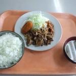 波止場食堂 - 牛焼肉定食