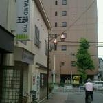 19437802 - 写真の左がお店♪三鷹駅は右方向。。。