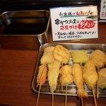 串花 - ソースが美味しい、チーズが美味しいシュウマイ串カツ旨い
