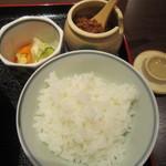 多摩うどん ぽんぽこ - 白いご飯 ふりかけ付