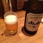 やきとりん モッツマン - 「ほろよい1000円セット」Aセットの瓶ビール