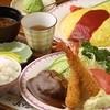 ハイジ - 料理写真:手前 : 人気の 「コンビ定食(エビ&バーグ)」、 奥 : 定番 「オムライス」