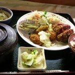 とんかつなか川 - 料理写真:本日の定食 ミンチかつ、イカフライ 500円