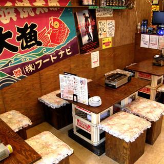 2階フロアに宴会場「第二漁港」がドドンと登場!!