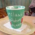 かもめ食堂 - コーヒーのカップが可愛い。基本、ムーミン系のものが多いです。