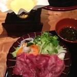 Kappouyamabe - お刺身の代わりに牛タンしゃぶ