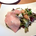トラットリア リオコルノ - 前菜とサラダの盛り合わせ