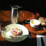 19452878 - 煎茶と地元ベリーーのタルト