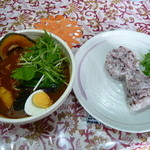 Neco - トマトスープのヤサイカレー、さきたま古墳添え(\1000)