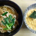 河新 - きつねうどん+玉子丼(小)