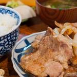 菱田屋 - 豚肉生姜焼き【2013年6月】