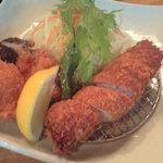 Tonkatsukewaike - 海老・帆立フライとヒレとんかつ膳 1381円