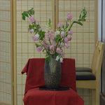 よつ谷 - 入口の横に飾られていたお花