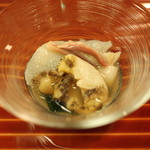 懐石 大原 - 冷し物 (鮑と北寄貝と平貝)