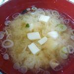 次郎長 - 共通。味噌汁