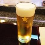 寿司文 - スタートは生ビール♪