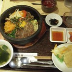 韓美膳 - 石焼カルビビビンバセット