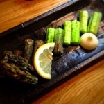 浜覚 - むらさきアスパラ。これが食べ納めかな?