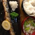 とんかつ 安右衛門 - 自家製秋刀魚の丸干し