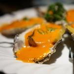 かぶら亭 - 牡蠣とアワビのピリ辛ソース