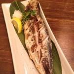 福島酒店 酒蔵鍋 - 鯵塩焼 100円!! わ!笑う!