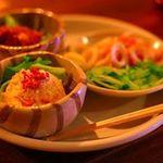 フクスケ - 3点盛り (角煮+ちくわときゅうり+ポテトサラダ500円)