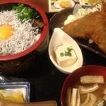 茅ヶ崎 海ぶね - 釜揚げしらす丼と鯵フライ