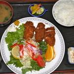 元禄 - ひれかつ定食¥1.050