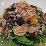 新中国料理黄龍 - 青ヒユ菜、塩漬け卵、ピータンの炒め煮 1280円