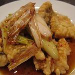新中国料理黄龍 - 本アナゴの北京風炒め 1500円