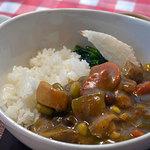 ハレミ - 和風カレーのランチ。サラダ・八丁味噌ポタージュスープ・しめじの焼きおひたし・大根の漬物・うどヨーグルト付き