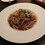 ルーナ・ピエーナ - ≪パスタ 乾麺≫ポルチーニ茸のボロネーゼ 1500円。これもタップリあります。