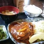 つきじ - ハンバーグ定食