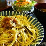 つきじ - 山菜スパゲッティー