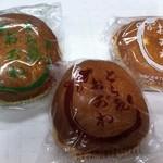 和菓子処 おがわ  - どら焼き(小豆、白餡、うぐいす餡)