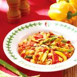 フラカッソ - 6月20日(木)夏の生パスタ。夏野菜とモッツァレラチーズのトマトソース