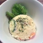 京町食堂 - お通しのポテトサラダ
