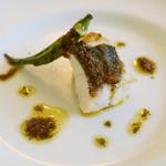 ブオーノ ブオーノ - スズキフィレの炭火焼き 香り豊かなハーブのソース