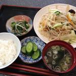味味亭 - 料理写真:野菜炒め定食