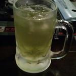 19487000 - 緑茶割(500円)を濃い目×5いっちゃいました♪