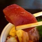 味彩おかもと - ヨコワマグロは上品な旨みで美味しいです