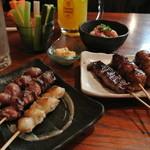 串やす吉 - 料理写真:串焼き・焼き物…どれを選んでもソコソコ旨い♪